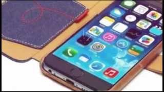 iPhone 6 bookcase Denim