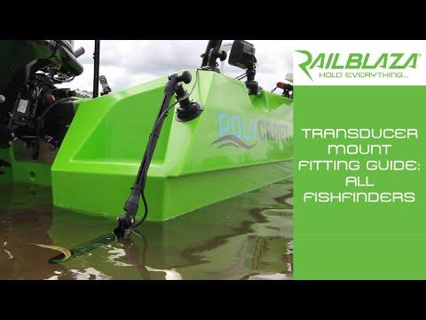 RAILBLAZA Transducer Mount Fitting Guide - Lowrance | Garmin | Humminbird | Raymarine