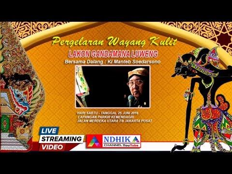 WAYANG KULIT LAKON GONDOMONO LUWENG KI MANTEB SUDARSONO LIVE KEMENDARGRI ( RECODED )