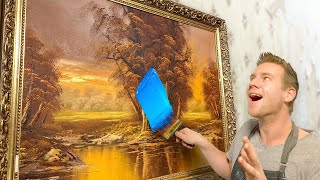 Customizing Giant THRIFT SHOP Paintings!