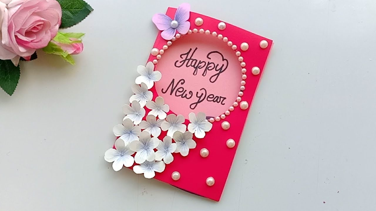 Beautiful Handmade Happy New Year 2020 Card Idea / DIY ...