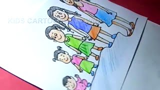 How to Draw Child growth chart in Female Drawing for kids