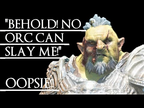 Shadow of War: Middle Earth™ Unique Orc Encounter & Quotes #205 THE UNKILLABLE ORC!