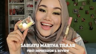 Sariayu Martha Tilaar (Eyeshadow & Lipstick) | First impression and Makeup Tutorial | MakeupbyFatya