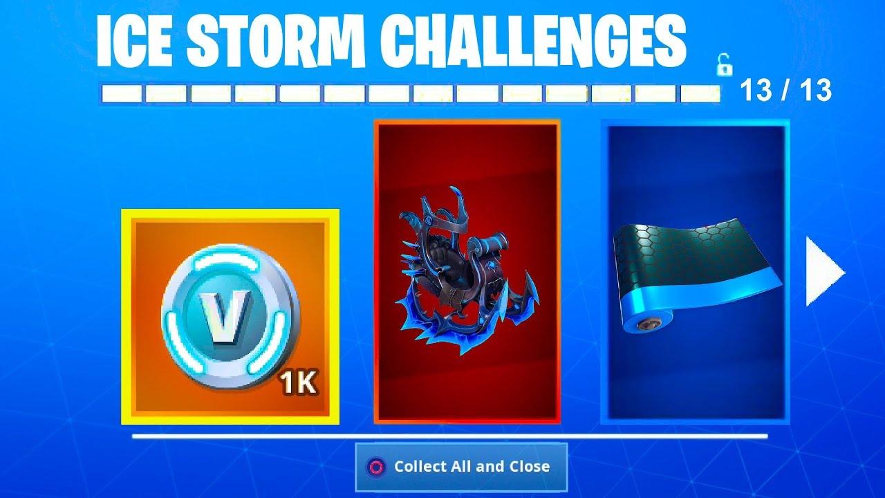 New Ice Storm Rewards Unlocked Fortnite Battle Royale Free Gifts