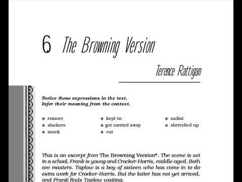 The Browning Version Summary Hindi Explanation