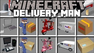 Minecraft DELIVERY MOD / POST AND DELIVER ITEMS ALL AROUND MINECRAFT!! Minecraft