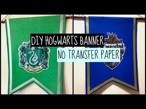 DIY Hogwarts house banner (No transfer paper)
