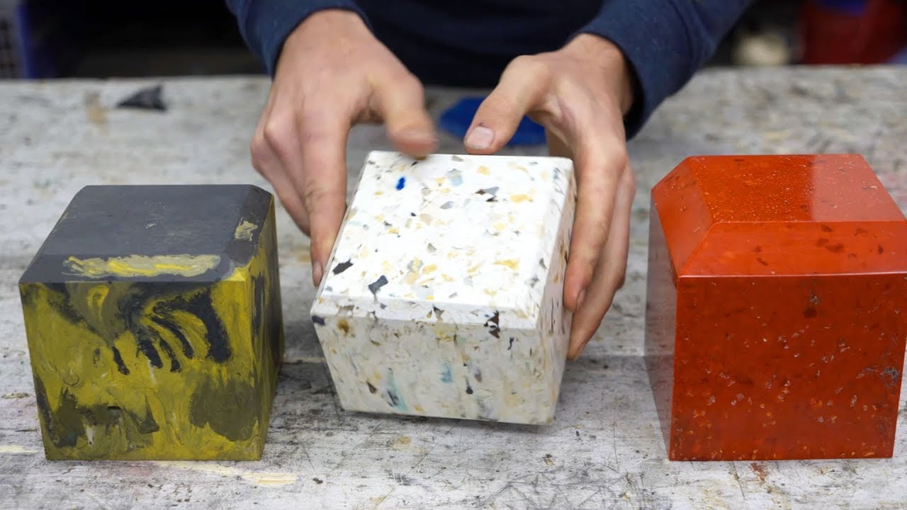 Precious Plastic - How to finish objects from recycled plastic