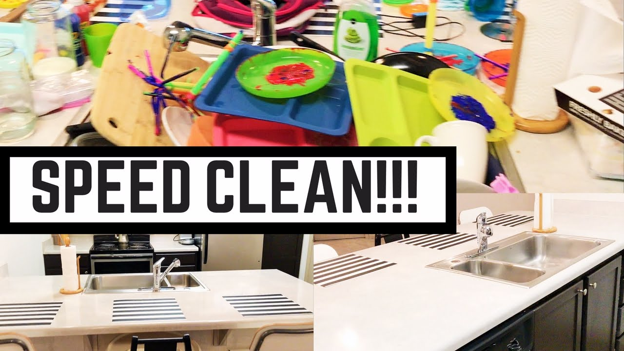 SPEED CLEANING MY APARTMENT!! CLEAN WITH ME [SAHM] - YouTube