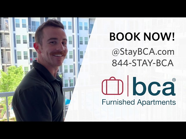 Amenities Tour - Spectacular Suites by BCA Furnished Apartments - Atlanta Short-term Rentals