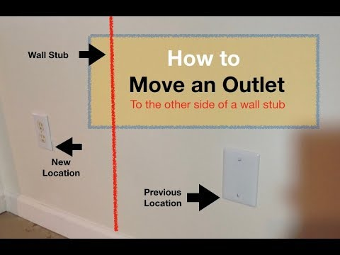 How To Move Outlet On Other Side Of Wall Stud Youtube