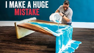 CRAZY Epoxy Waterfall River Table Build