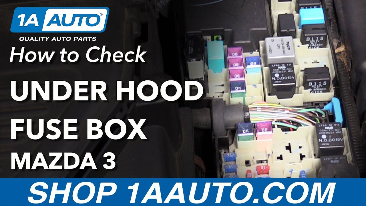 medium resolution of how to check under hood fuse box 03 09 mazda 3