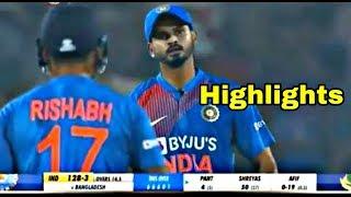 India Vs Bangladesh 3rd t20 full match highlights 2019 HD || Ind won by 30 runs ||