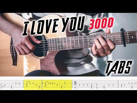 I Love You 3000 Fingerstyle Guitar Tutorial + Tabs ( Stephanie Poetri )