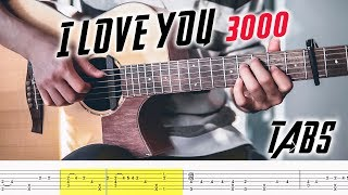 I Love You 3000 Fingerstyle Guitar Tutorial + Tabs