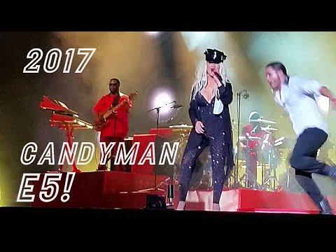 Christina Aguilera E5! Candyman 2017