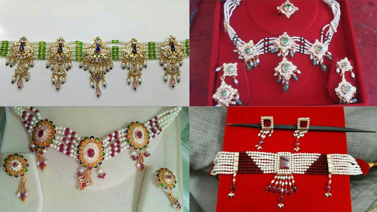 Rajputi Haar Design   Rajputi Moti Haar Design   Kanthi   Necklace ...