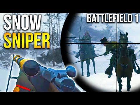 LUPKOW PASS SNIPING BATTLEFIELD 1 Russian DLC Snow Map Sniper