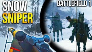 LUPKOW PASS SNIPING BATTLEFIELD 1 Russian DLC Snow Map Sniper