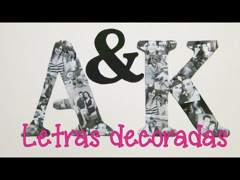 LETRAS DECORATIVAS CON FOTOS