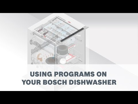 How To Use The Programs On Your Bosch Dishwasher Youtube