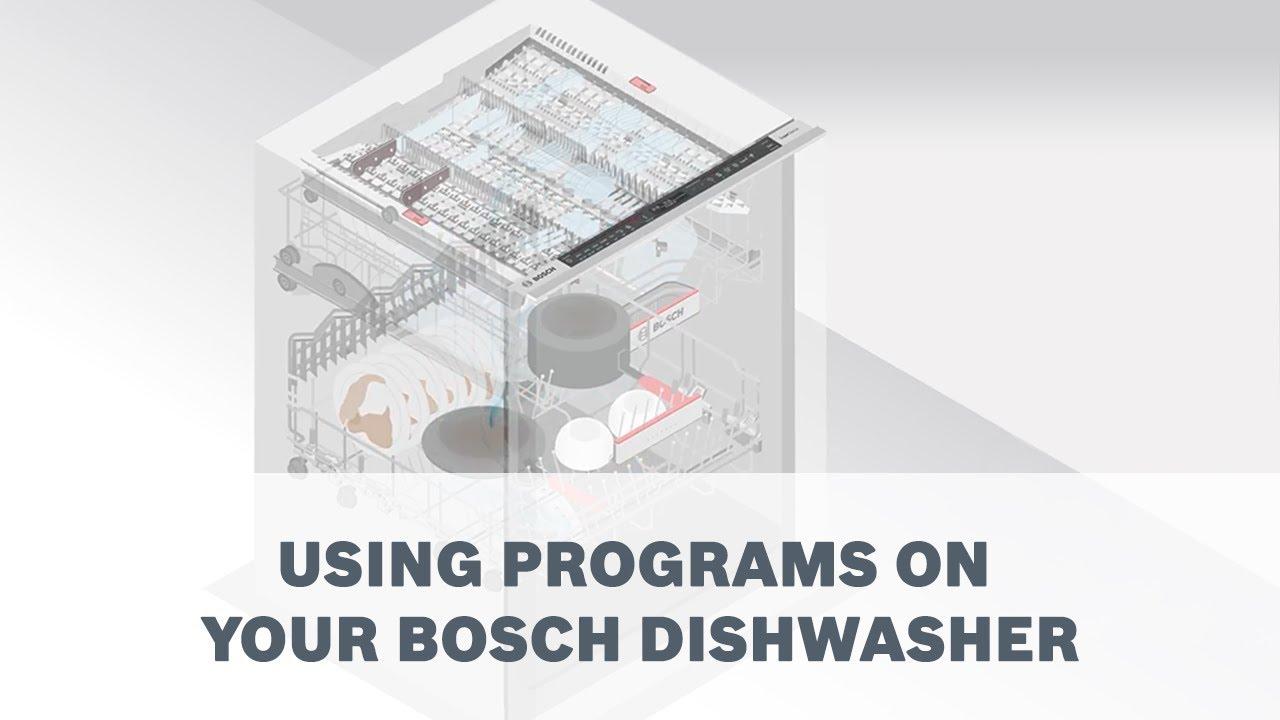 Bosch dishwasher user manual english