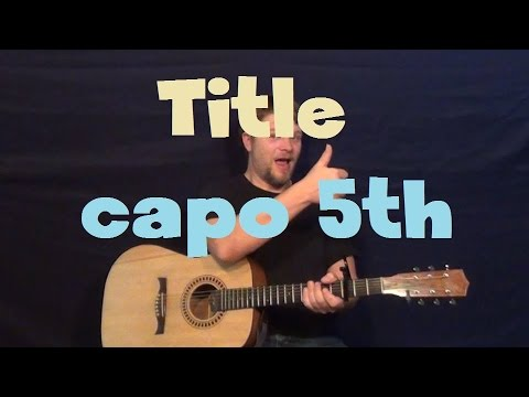 Title (Meghan Trainor) Easy Guitar Lesson How to Play Tutorial