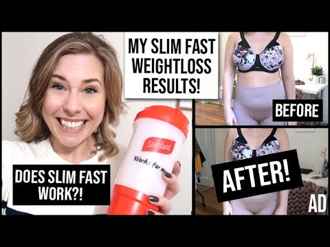 My Slim Fast Results: REAL Weight Loss Results + Honest Review | Does Slim fast Work? | AD