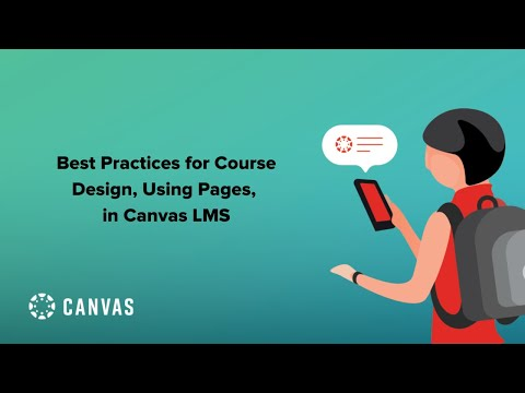 Best Practices For Course Design, Using Pages, In Canvas LMS