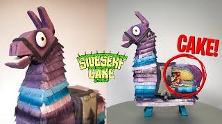 FORTNITE Supply Llama Piñata CAKE!