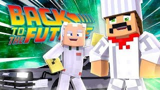 *NEW* Minecraft BACK TO THE FUTURE MOD! TIME TRAVEL & RIDE HOVER BOARDS!
