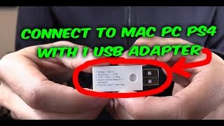 HOW TO CONNECT PAIR BLUETOOTH HEADSET / SPEAKER TO MAC PC PS4 WITH 1 USB BT ADATPER
