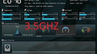 OVERCLOCK A8 3870K 3.5Ghz & ASUS F1A75V-PRO