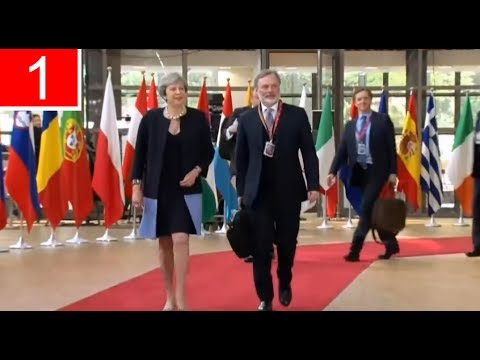 LATEST   Theresa May Arrives for EU Summit in Brussels (22Jun17)