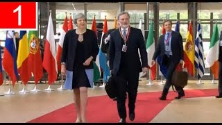 LATEST | Theresa May Arrives for EU Summit in Brussels (22Jun17)