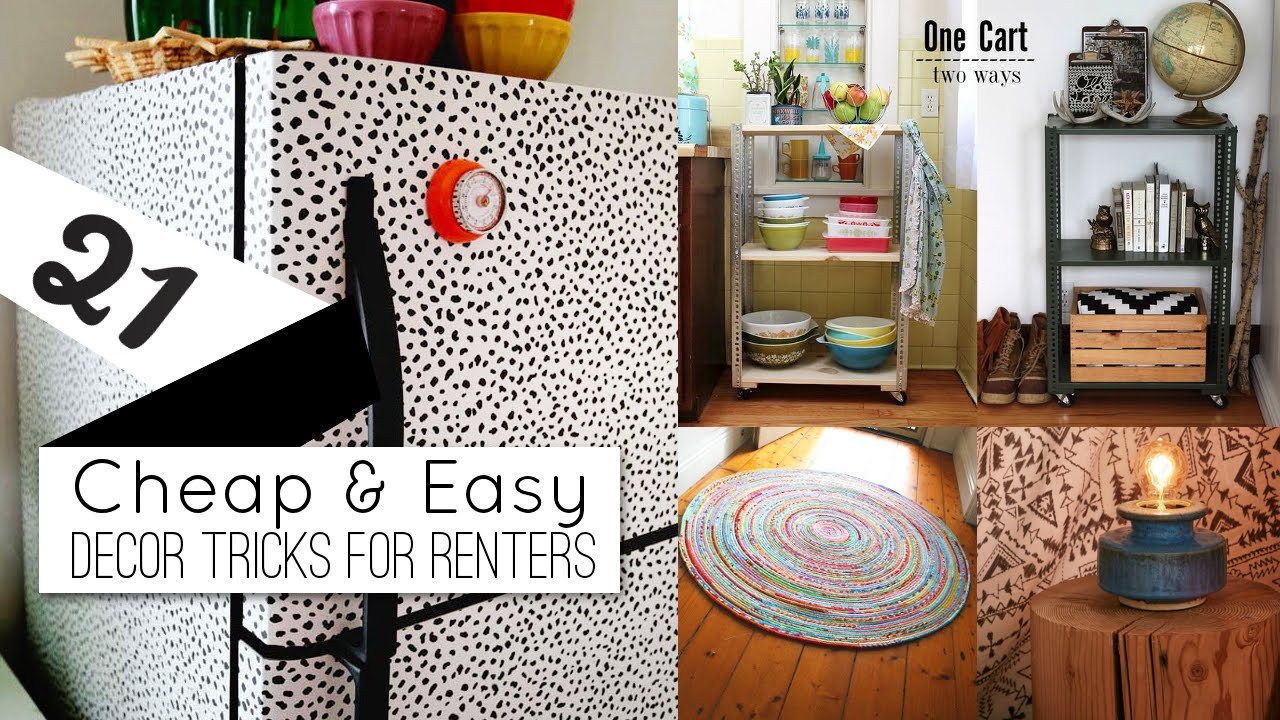 21+ Home Decor Ideas For Renters   YouTube