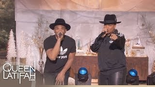 Queen Latifah and D.M.C. Perform