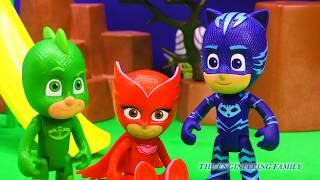 PJ MASKS Disney CATBOY and Gekko Zap Cartoon Network PowerPuff Girls Mojo Funny Toys Parody