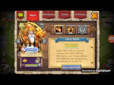Castle Clash Warlock 10/10 And 8/8 War God. With 3 Lvl Bulwark Crest Game Play.. PART-1