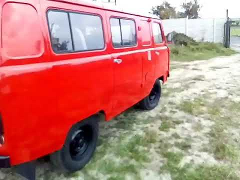 red uaz 452 van test drive