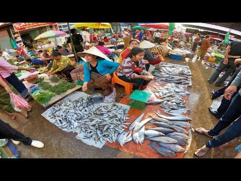 ตลาดเมืองปากเซ สปป.ลาว สุดยอดตลาดขายปลาน้ำโขง เที่ยวลาว 2019 EP22.