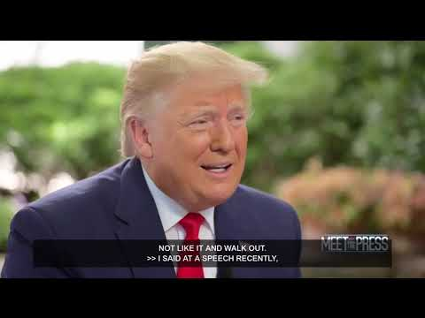 Trump explains why he talks about a third term