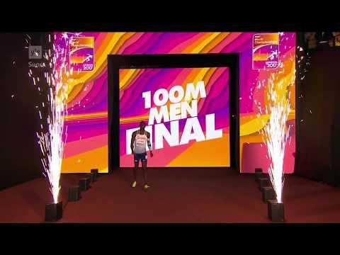 Men 100m Final IAAF World Championships London 2017 No Commentary