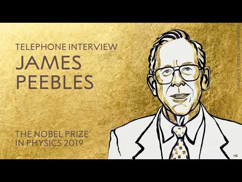"James Peebles: ""Wonderful – Yes! Fascinating – Yes! Eager to know more – Absolutely!"""