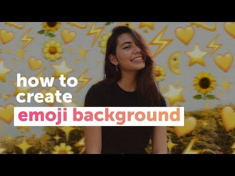 How To Create An Emoji Background Edit | PicsArt Tutorial