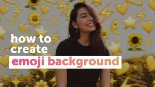How to create an emoji background edit   PicsArt Tutorial