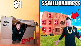 $1 BOX FORT Vs BILLIONAIRE BOX FORT CHALLENGE!! 📦💰
