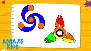 Как Нарисовать Спиннер для Детей߷ Простые Рисунки Своими Руками🖐️ Уроки Рисования для Начинающих ✏️